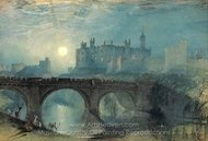 Alnwick Castle painting reproduction, Joseph M. W. Turner