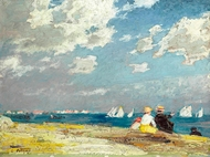 Along the Shore painting reproduction, Edward Henry Potthast