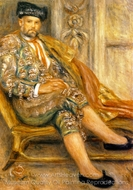 Ambroise Vollard Dressed as a Toreado painting reproduction, Pierre-Auguste Renoir