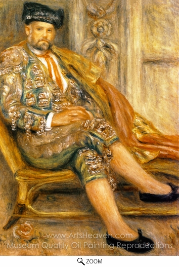 Pierre-Auguste Renoir, Ambroise Vollard Dressed as a Toreado oil painting reproduction