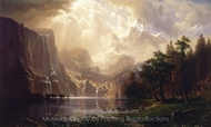 Among the Sierra Nevada Mountains, California painting reproduction, Albert Bierstadt