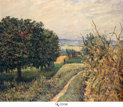 Alfred Sisley, Among the Vines, Louveciennes oil painting reproduction