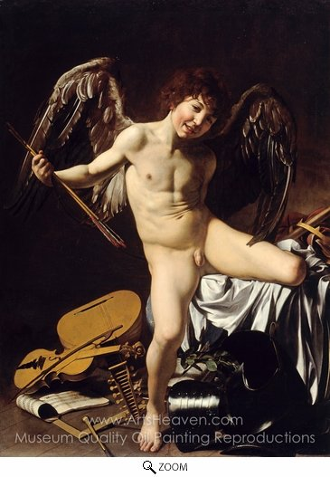 Caravaggio, Amor Victorious oil painting reproduction