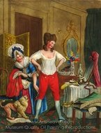 An Actress at Her Toilet painting reproduction, John Collet
