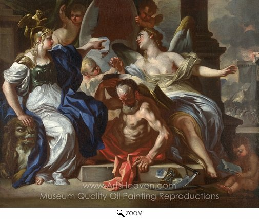 Francesco Solimena, An Allegory of Louis XIV oil painting reproduction