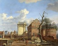 An Architectural Fantasy painting reproduction, Jan Van Der Heyden