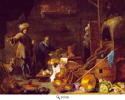 David Teniers, An Artist in His Studio oil painting reproduction