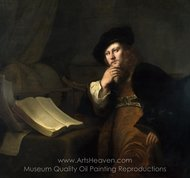 An Astronomer painting reproduction, Ferdinand Bol