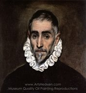 An Elderly Gentleman painting reproduction, El Greco