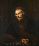An Elderly Man as Saint Paul painting reproduction, Rembrandt Van Rijn