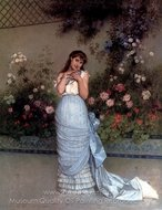 An Elegant Beauty painting reproduction, Auguste Toulmouche
