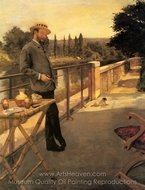 An Elegant Man on a Terrace painting reproduction, Henri Gervex