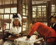 An Interesting Story painting reproduction, James Tissot