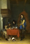 An Officer Dictating a Letter painting reproduction, Gerard Ter Borch