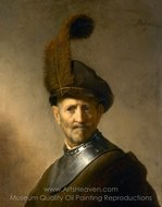 An Old Man in Military Costume painting reproduction, Rembrandt Van Rijn