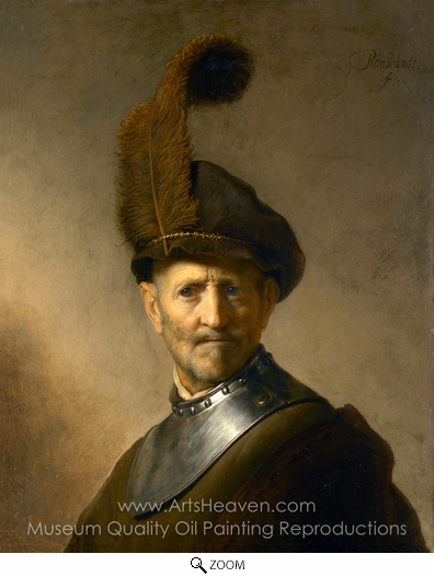 Rembrandt Van Rijn, An Old Man in Military Costume oil painting reproduction