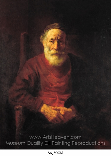 Rembrandt Van Rijn, An Old Man in Red oil painting reproduction