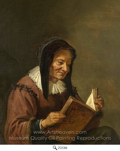 David Teniers, An Old Woman Reading oil painting reproduction