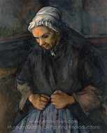 An Old Woman with a Rosary painting reproduction, Paul Cézanne