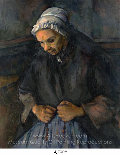 Paul Cézanne, An Old Woman with a Rosary oil painting reproduction