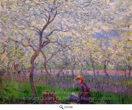 Claude Monet, An Orchard in Spring oil painting reproduction