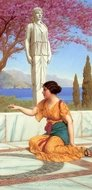 Ancient Pastimes painting reproduction, John William Godward