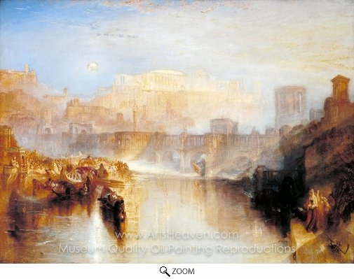 Joseph M. W. Turner, Ancient Rome, Agrippina Landing with the Ashes of Germanicus oil painting reproduction