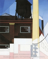 And the Home of the Brave painting reproduction, Charles Demuth