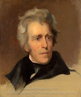 Andrew Jackson painting reproduction, Thomas Sully