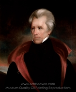 Andrew Jackson painting reproduction, Ralph Earl