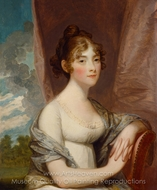 Ann Barry painting reproduction, Gilbert Stuart