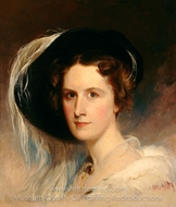 Ann Biddle Hopkinson (Mrs. Francis Hopkinson) painting reproduction, Thomas Sully