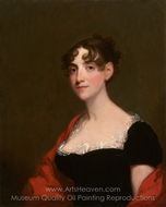 Ann Calvert Stuart Robinson (Mrs. William Robinson) painting reproduction, Gilbert Stuart