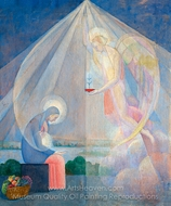 Annunciation painting reproduction, Angel Zarraga