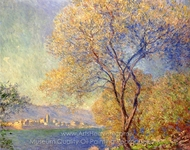 Antibes Seen from the Salis Gardens painting reproduction, Claude Monet