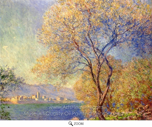 Claude Monet, Antibes Seen from the Salis Gardens oil painting reproduction