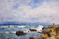 Antibes, the Point of the Islet painting reproduction, Eugene-Louis Boudin