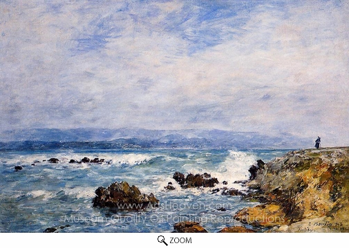 Eugene-Louis Boudin, Antibes, the Point of the Islet oil painting reproduction