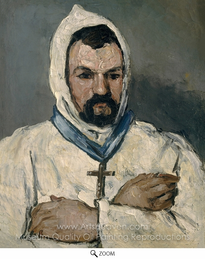 Paul Cézanne, Antoine Dominique Sauveur Aubert, the Artist's Uncle, as a Monk oil painting reproduction