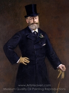 Antonin Proust painting reproduction, �douard Manet