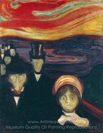Anxiety painting reproduction, Edvard Munch