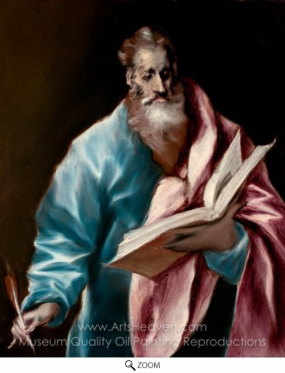 El Greco, Apostle Saint Matthew oil painting reproduction