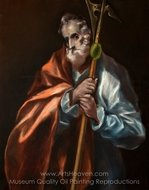 Apostle St Thaddeus (Jude) painting reproduction, El Greco