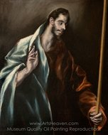 Apostle St Thomas painting reproduction, El Greco