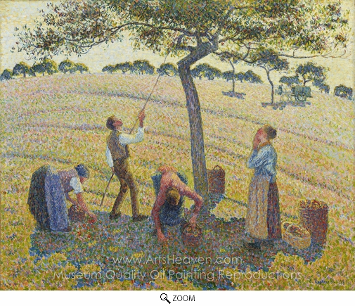 Camille Pissarro, Apple Harvest at Eragny oil painting reproduction