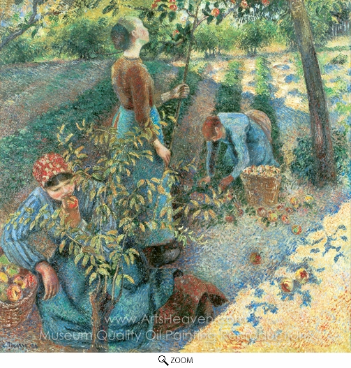 Camille Pissarro, Apple Picking oil painting reproduction