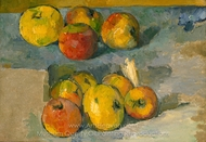 Apples painting reproduction, Paul C�zanne