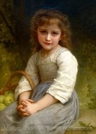 Apples (Les pommes) painting reproduction, William A. Bouguereau