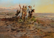 Approach of the White Men painting reproduction, Charles Marion Russell