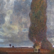 Approaching Thunderstorm (The Large Poplar II) painting reproduction, Gustav Klimt